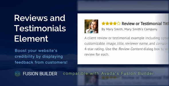 Reviews and Testimonials Element for Avada v5 Fusion Builder - CodeCanyon Item for Sale