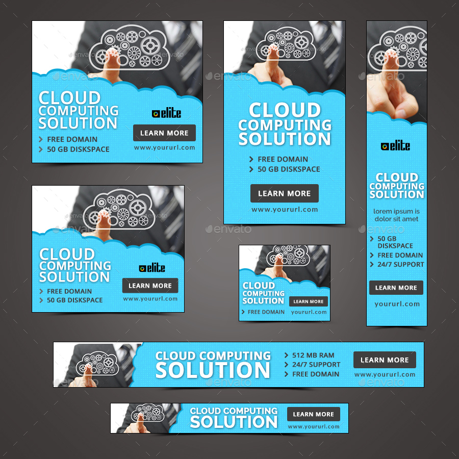 Cloud Hosting Banners