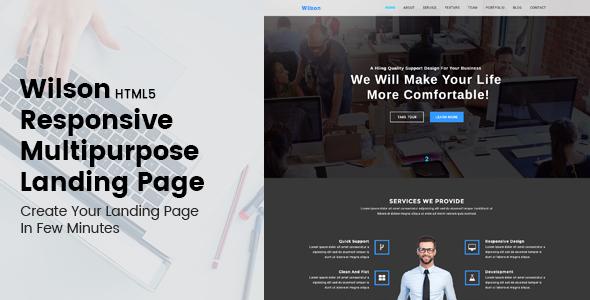 Wilson – HTML5 Responsive Multipurpose Landing Page