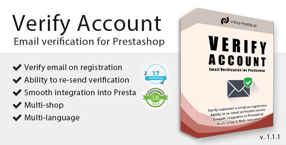 Verify Account for Prestashop - CodeCanyon Item for Sale