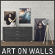 Art On Walls Mockup - Canvas Mockups - Frame Mockups - Wall Mockups Vol 9 - GraphicRiver Item for Sale