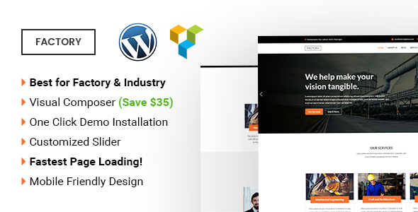 Factory –  Industrial and Factory WordPress Theme