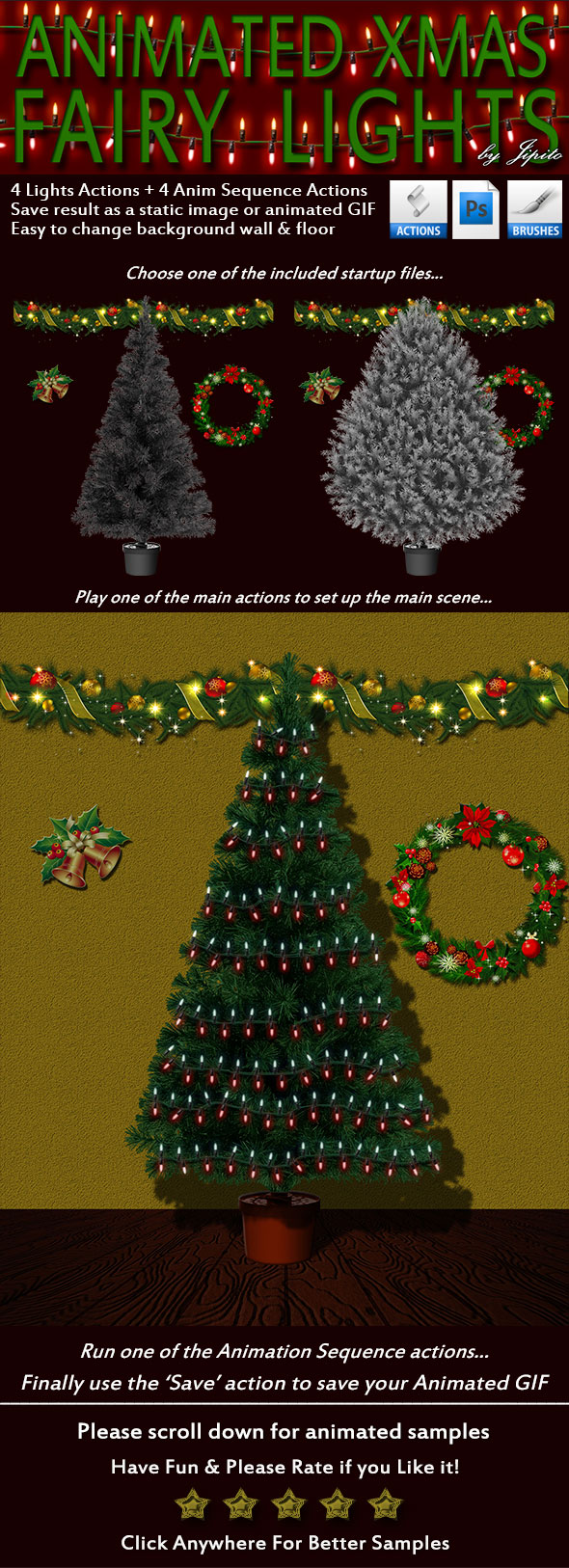 Animated Xmas Tree & Lights Kit - Utilities Actions