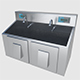 Scrub Sink - High and Low Poly - 3DOcean Item for Sale