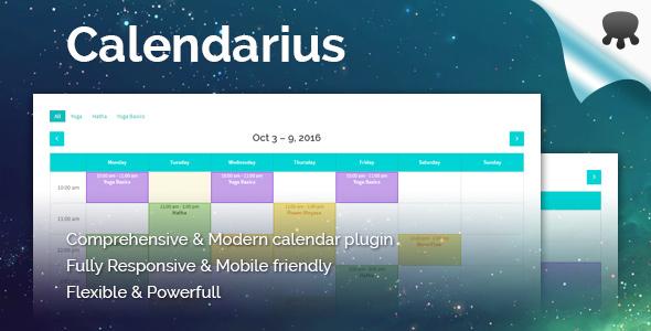 Calendarius - Comprehensive and Modern Calendar Plugin for WordPress - CodeCanyon Item for Sale