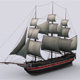 Sailing warship corvette - 3DOcean Item for Sale