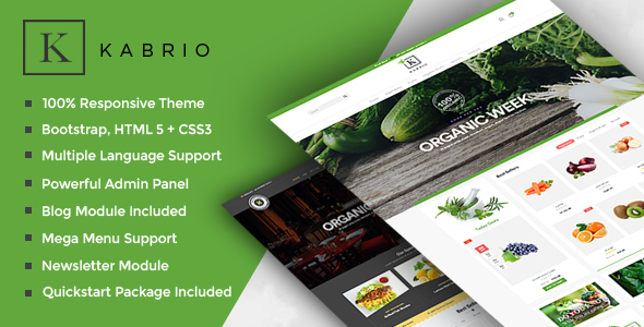Kabrio - Food  Store Responsive OpenCart Theme - Shopping OpenCart