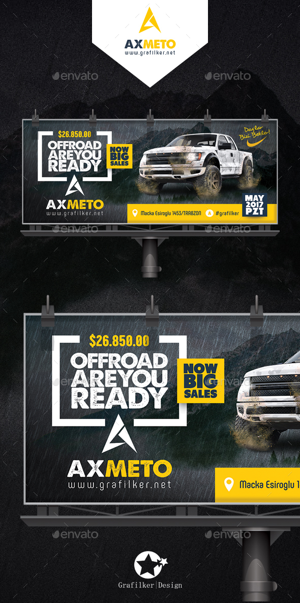 Off-Road Adventure Billboard Templates - Signage Print Templates