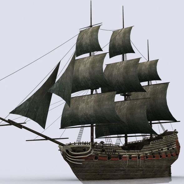 Old sailing warship - 3DOcean Item for Sale