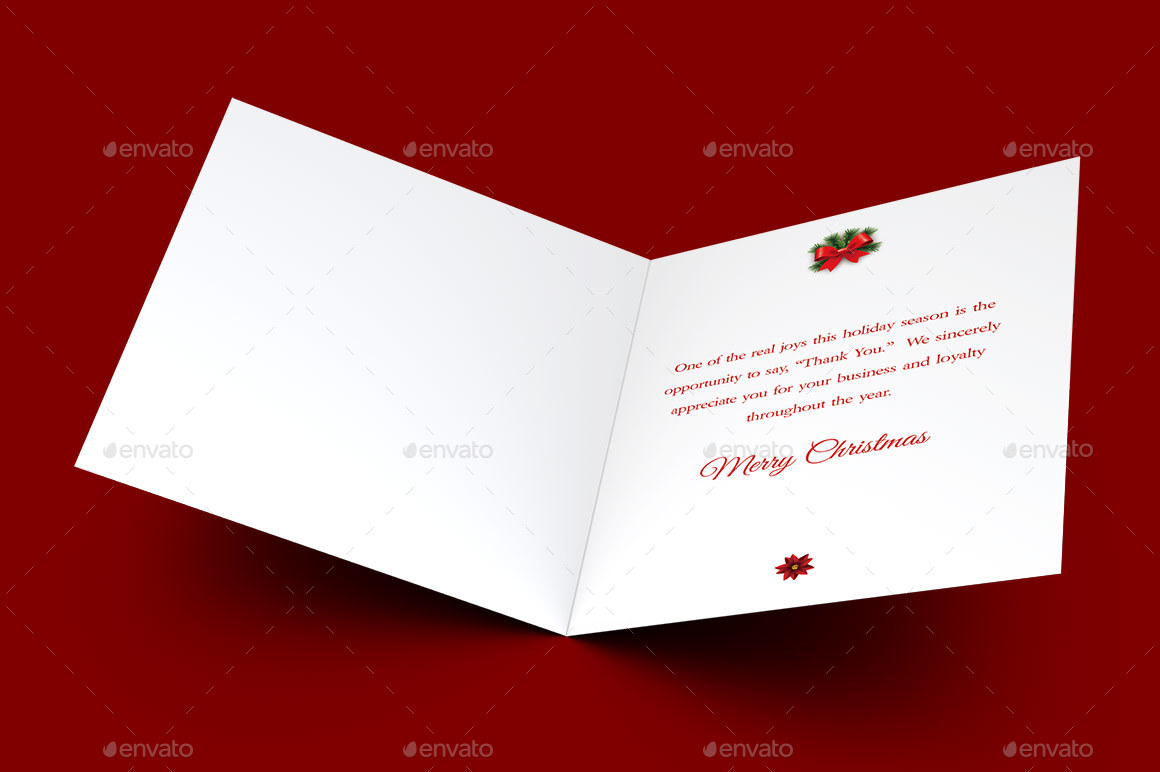 Red Ornament Christmas Card Template by Godserv2 | GraphicRiver