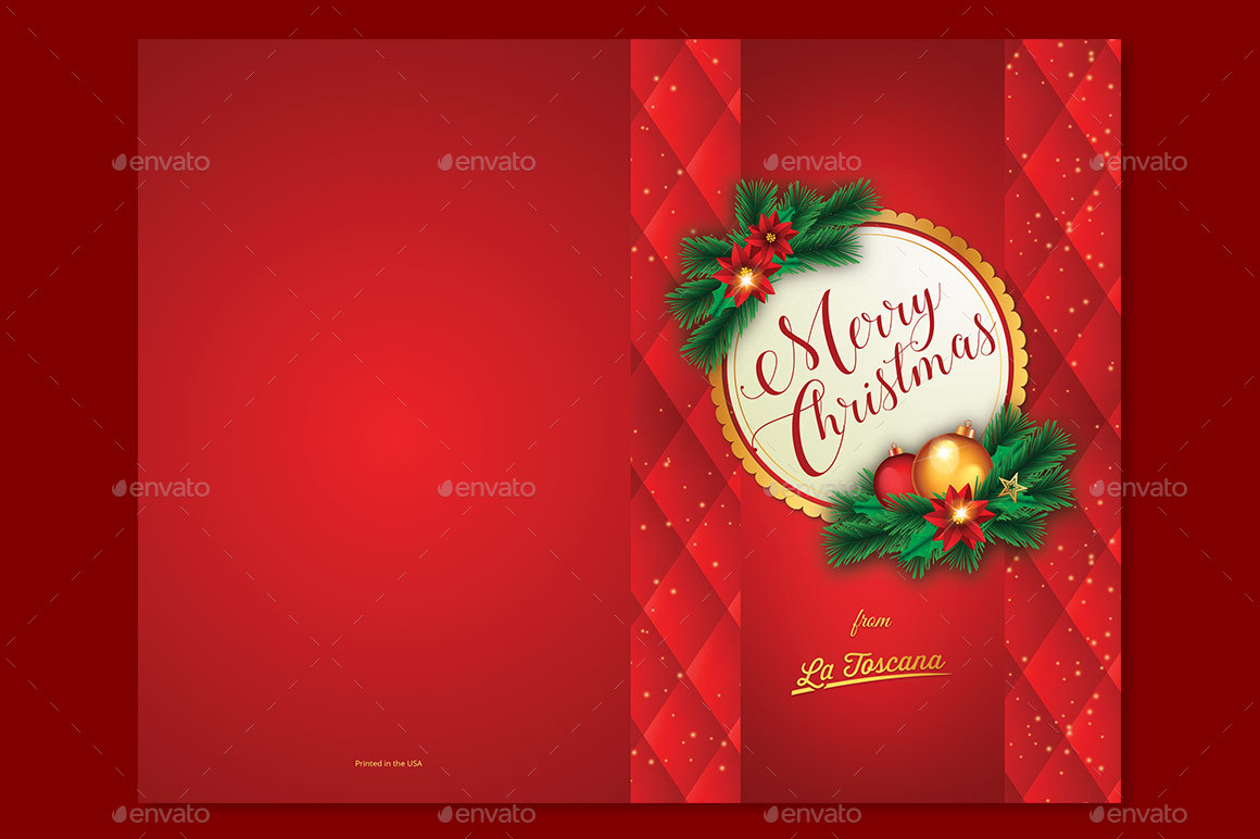 red ornament christmas card template by godserv2