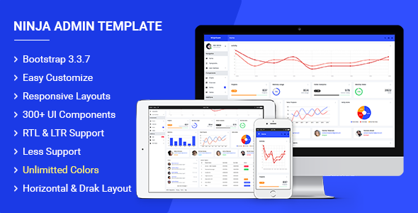 Image of Ninja - Responsive Admin Dashboard Template