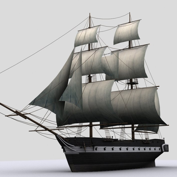 Sailboat brig - 3DOcean Item for Sale