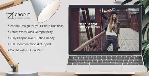 Photography CropIt | Photography Portfolio Photography Blog Template