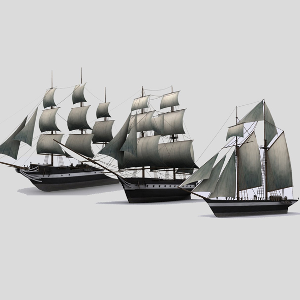 Sailboats - 3DOcean Item for Sale