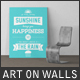 Art On Walls Mockup - Canvas Mockups - Frame Mockups - Wall Mockups Vol 10 - GraphicRiver Item for Sale