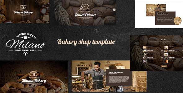 Milano – Stunning Bakery PSD Template for Bakeries, Cake & Coffee Shops