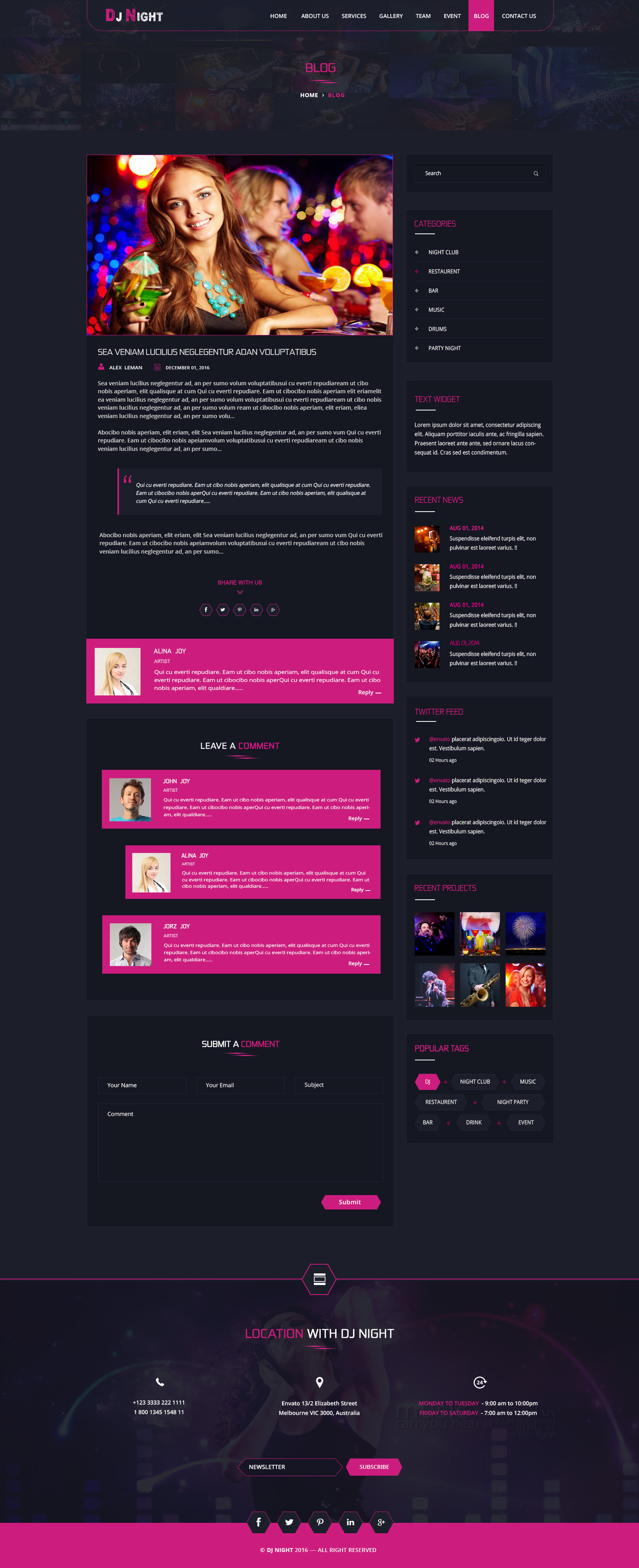 DJ Night - Event, DJ, Party, Music Club PSD Template by Teqbees ...