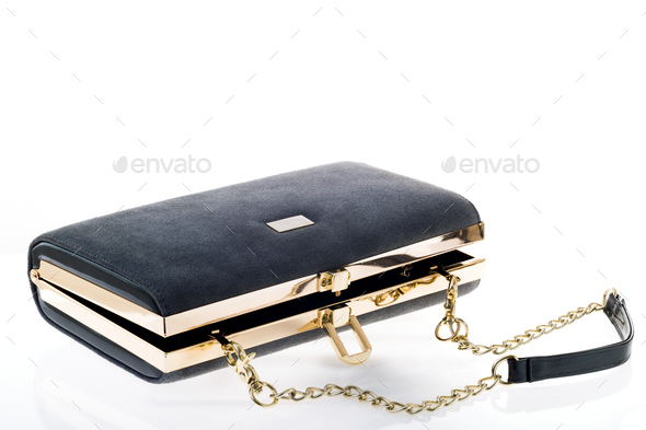 bb2bf7fe Women's clutch handbag on a white background - Stock Photo - Images