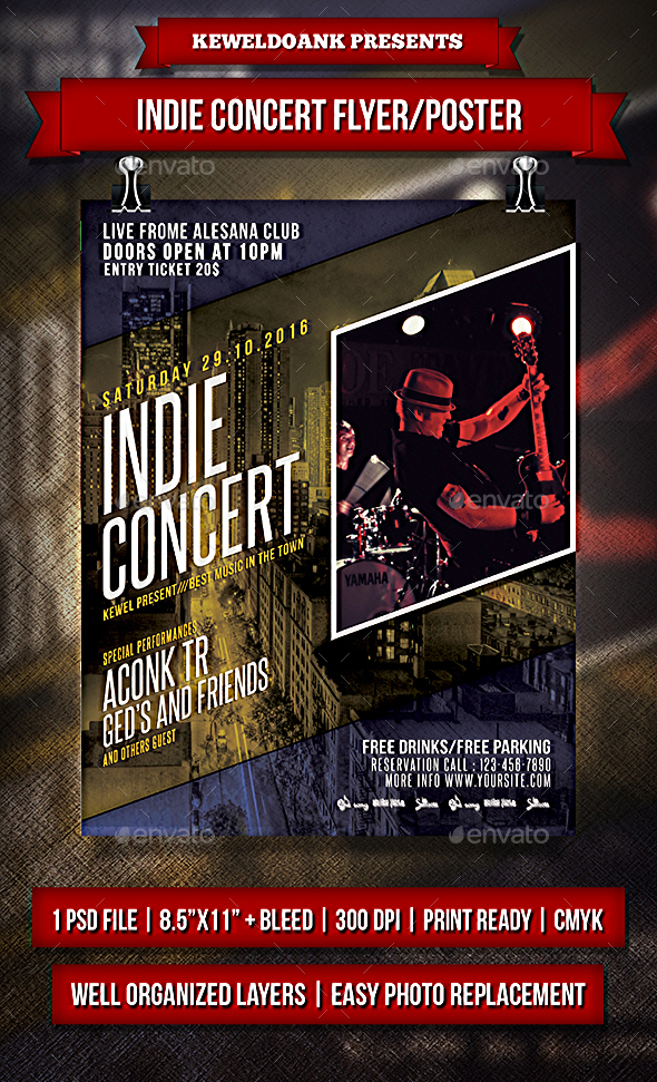 Indie Concert Flyer / Poater - Events Flyers