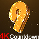 Golden Countdown 4K - VideoHive Item for Sale