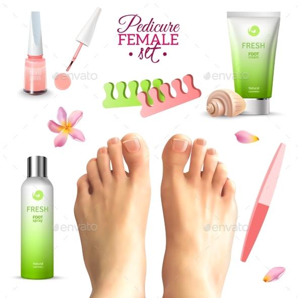 Pedicure Female Feet Set - Miscellaneous Conceptual
