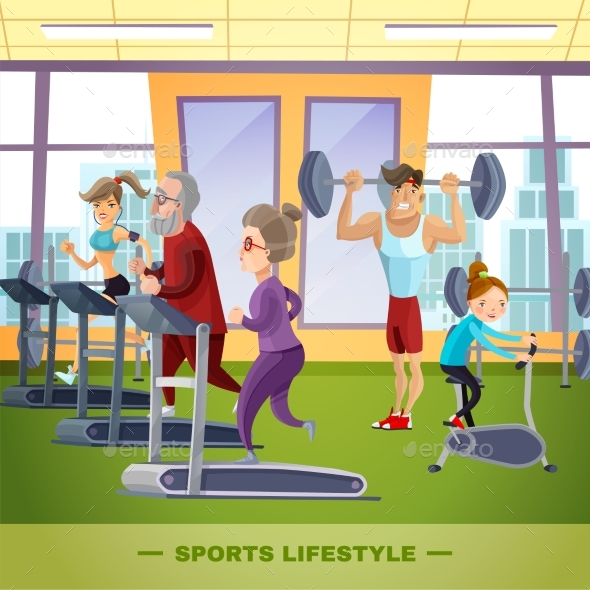 Sports Family Flat Template - Sports/Activity Conceptual