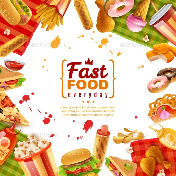 Fast Food Template - Backgrounds Decorative