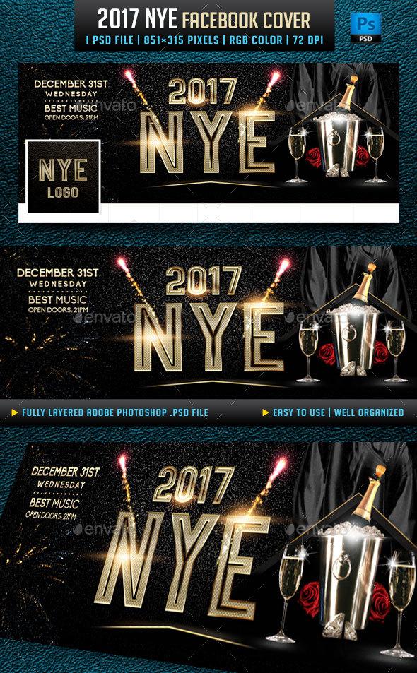 2017 NYE Facebook Cover - Facebook Timeline Covers Social Media