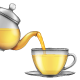 Tea Pouring from Teapot into a Cup - GraphicRiver Item for Sale