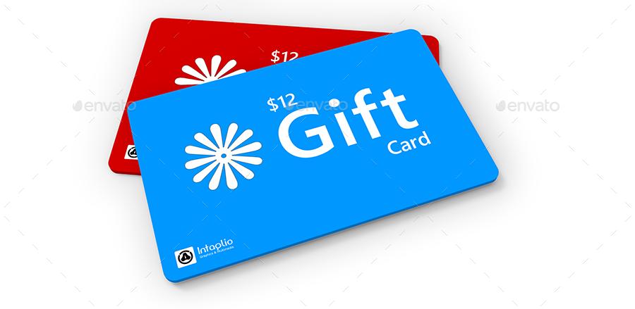 gift card mockup by mudi graphicriver