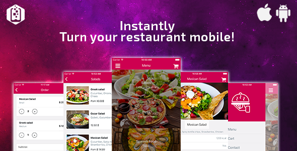Restaurant App Template - React Native - CodeCanyon Item for Sale