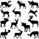 Deer Silhouettes - GraphicRiver Item for Sale
