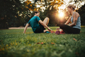 Couple relaxing after physical training session - PhotoDune Item for Sale