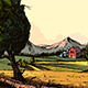 Farm Landscape Hand Drawn - GraphicRiver Item for Sale