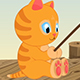 Fishing Cartoon Cat - VideoHive Item for Sale