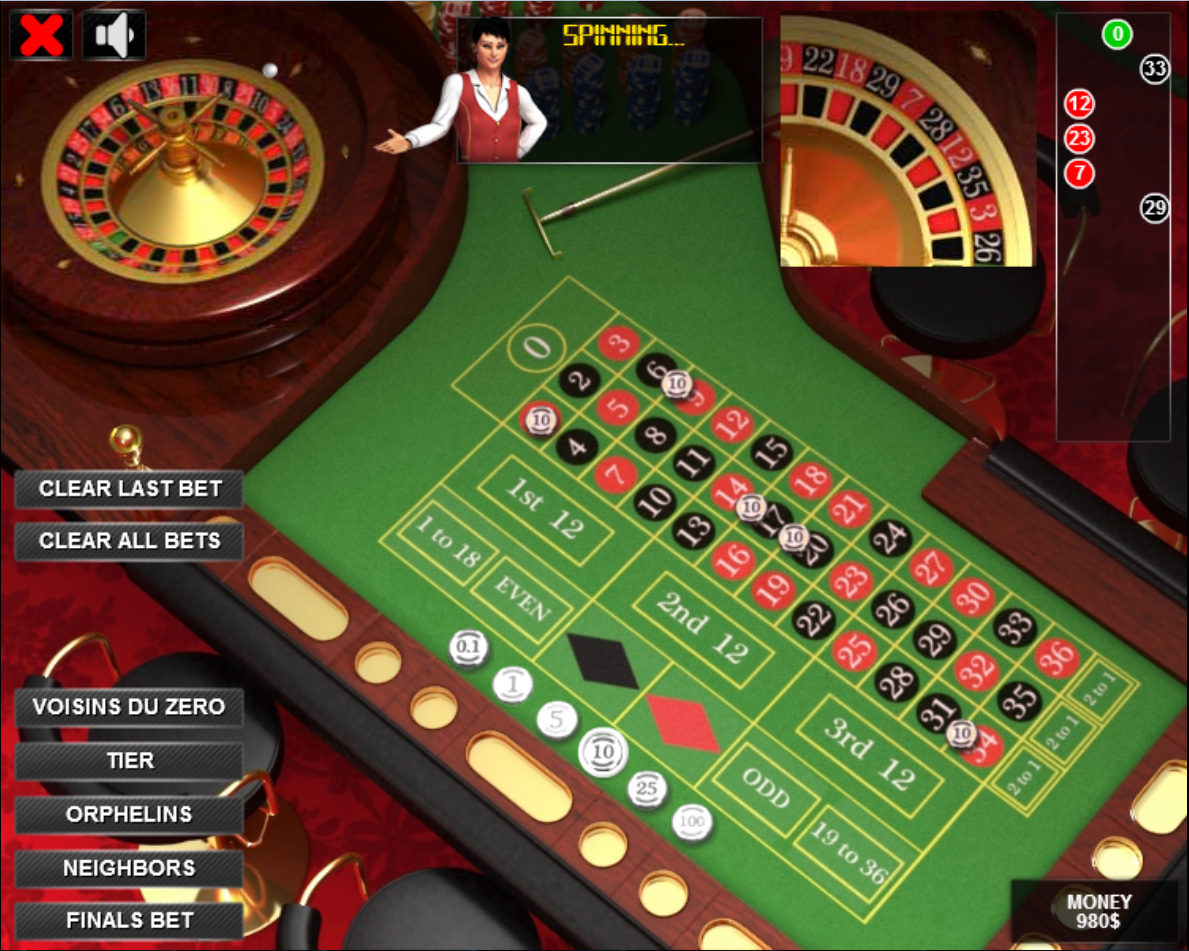 A roulette game how to quit slot machine gambling