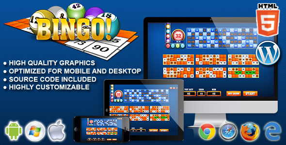 Bingo! - HTML5 Gambling Game - CodeCanyon Item for Sale