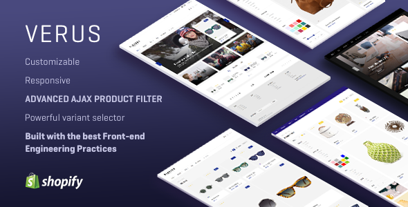 VERUS - Multipurpose Responsive Shopify Theme - Fashion Shopify