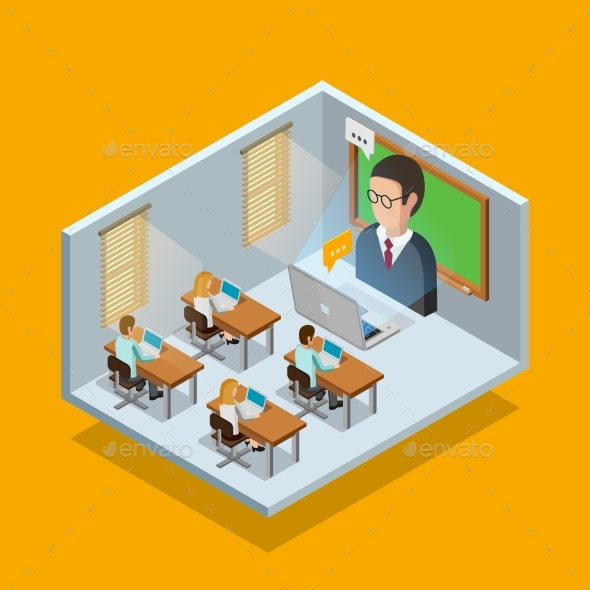 Online Learning Room Concept - Web Technology