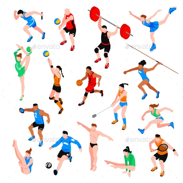 Sport Isometric Set - Sports/Activity Conceptual