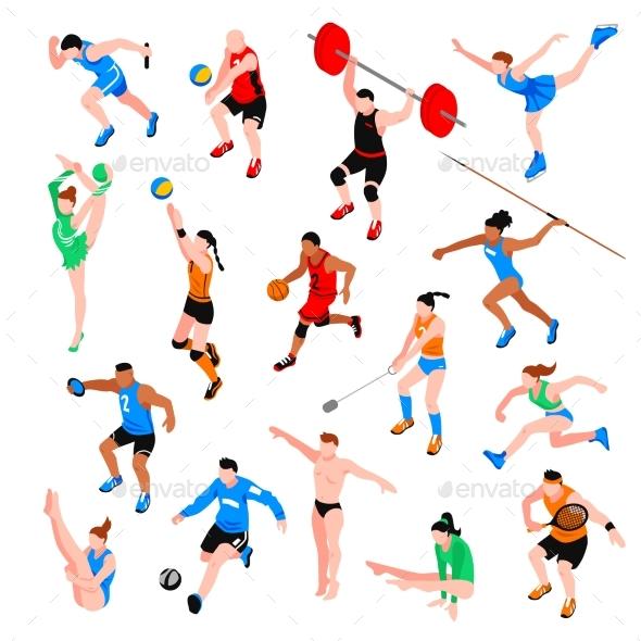 Sport Isometric Set - Sports/Activity Conceptual