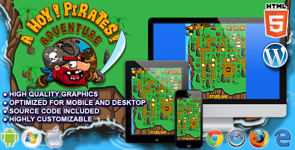 Ahoy! Pirates Adventure - HTML5 Arcade Game - CodeCanyon Item for Sale