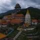 Aerial: Kek Lok Si Temple on Penang Island.