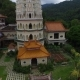 Aerial: Flying Near Kek Lok Si Temple.