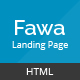 Fawa - One Page Landing Template - ThemeForest Item for Sale