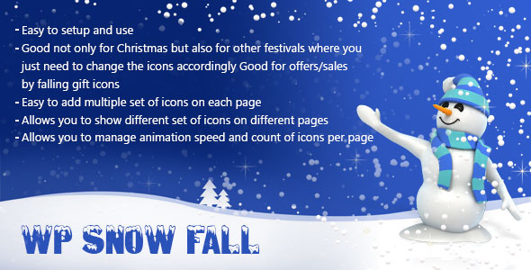 WP Snow Fall - CodeCanyon Item for Sale