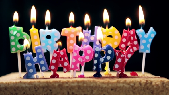 Enjoyable Lighted Candles On A Birthday Cake By Olegdoroshin Videohive Personalised Birthday Cards Veneteletsinfo