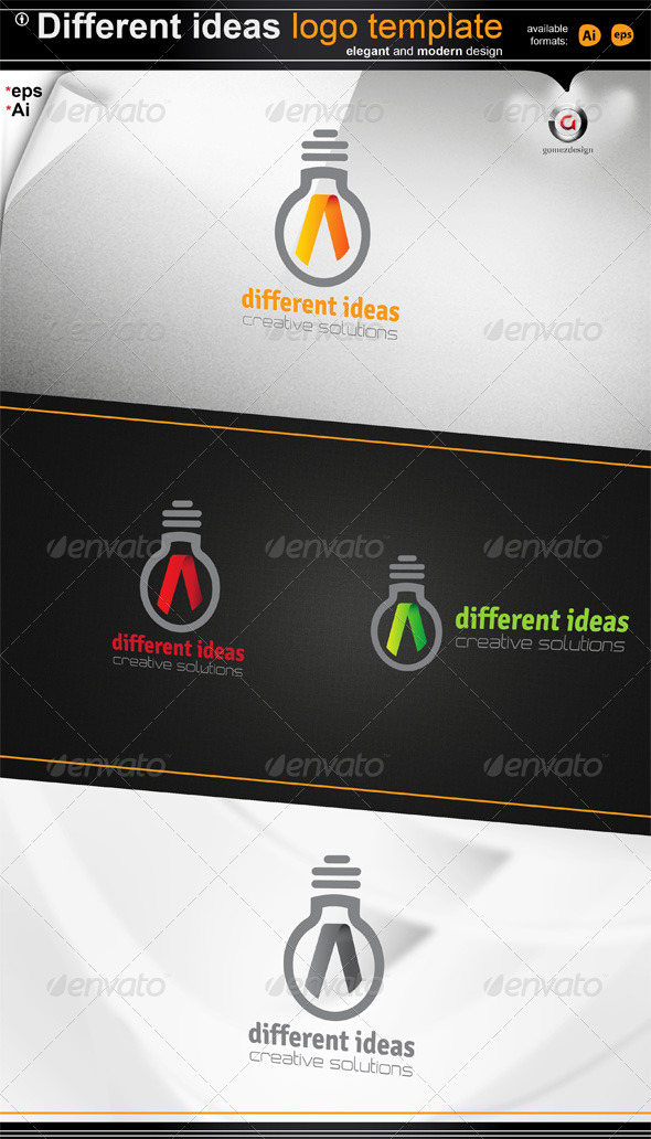 Different Ideas Logo Template - Symbols Logo Templates