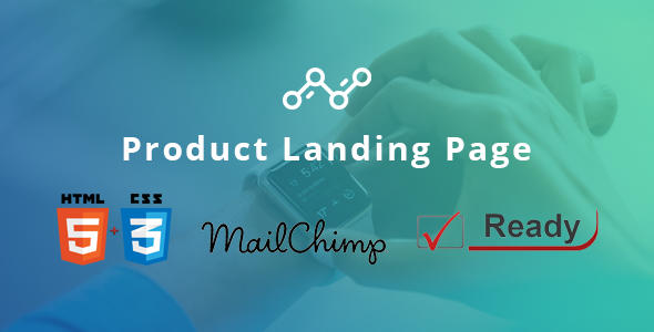 Blue – Product Landing Page